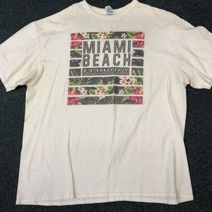 Men's Miami Beach tropical t-shirt